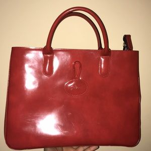 Longchamp Terracota tote with strap!